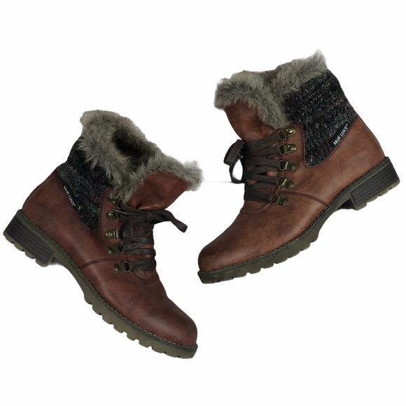 Muk Luks Burgundy Verna Ankle Boots